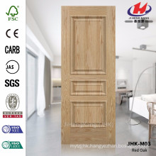 JHK-M03 Used For Mosaic Glass Mountain Grain Embossed Red Oak Veneer Door Skin
