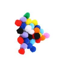 Factory direct sale Colourful 1cm-3cm Multi color Arts and Craft  Fluffy PomPoms for art