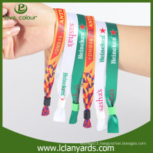 Eco friendly Fashion Fabric Friendship Bracelets/ Customer Logo Wristband