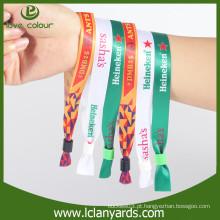 Eco friendly Moda tecido pulseiras de amizade / logotipo do cliente Wristband