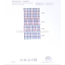 Precio bajo 100% hilado de algodón teñido de tela
