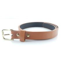 Skinny pu belt fashion womens brown leather belt