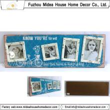 Shabby Wooden Multiple Photo Frame