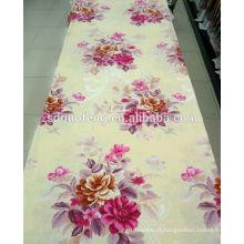 2014 novos desenhos 100% algodão sarja flor impressão lençol tecido