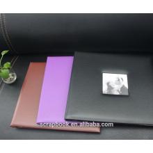 Yiwu heiß beliebten braunen PU-Fotoalben für Hochzeit Gästebuch Foto Album 12inches