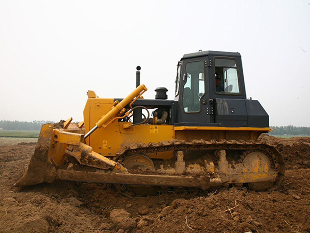 Crawler Bulldozer With Steering Wheel
