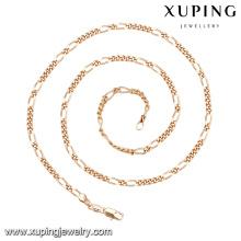 43555 Barato design personalizado estilo simples jóias da moda banhado a ouro liga de cobre colar de corrente
