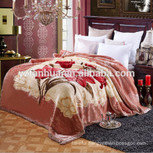 super soft Dubai raschel blanket china factory With Beautiful Flower Printing Design