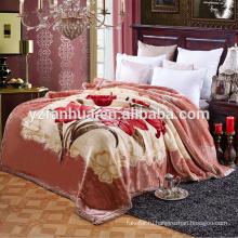 супер мягкий Дубай Рашель одеяло Китай завод с красивый цветок печати дизайн