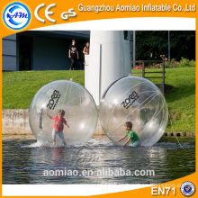 Cheap transparent floating water ball/plastic polo polymer water ball
