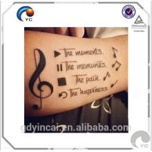 Etiqueta engomada de encargo única y fresca del tatuaje del cuerpo, fresco para la piel con precio de loe
