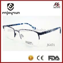 Vente en gros designer réplique homme demi-cadre lunettes optiques en métal
