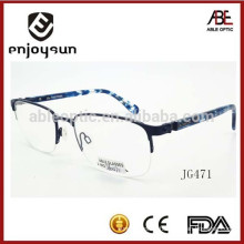 wholesale designer replica man half frame metal optical spectacles