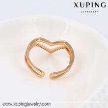 13788- Xuping Jóias Anéis De Dedo Manguito Novo Duplo