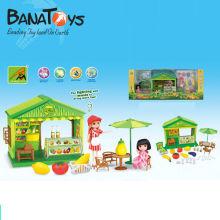 Casa de frutas de plástico brinquedo para crianças com som e luz