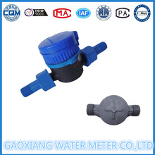 Medidores de flujo de agua de un solo tipo Jet de tipo plástico Dn15-Dn25