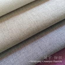 Linho olhar e tocar 100% poliéster tecido para sofá