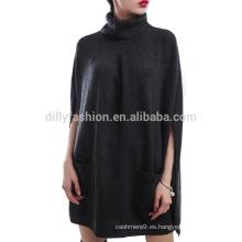 Vestido de noche de las mujeres del vestido del cabo de las mujeres del vestido del cabo de la cachemira de las lanas nuevas