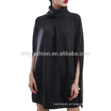 Lã de cashmere knit ladies vestido de capa nova capa de vestido de noite mulher