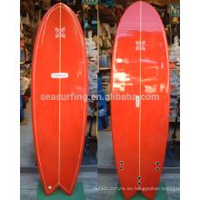 ¡VENTA CALIENTE 2016! Super nuevo diseño al por mayor tabla de surf / tablas de surf de pescado epoxi