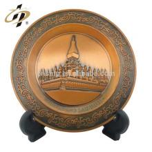 O metal de cobre antigo feito sob encomenda comemora a chapa com próprio projeto