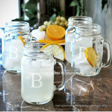 16oz 450ml Drinking Glass Mason Jar with Handle