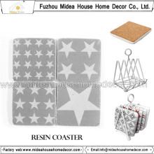 Оптовая Custom Retro Resin Coaster