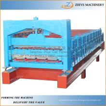 Doppelschicht Stahldachbleche Kaltumformmaschine / Doppeldeckerherstellungsgeräte Prozesslinie