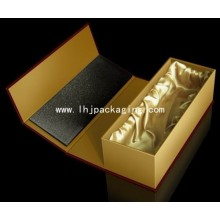 Luxury Gift Packaging Paper Wine Box with Silk Insert