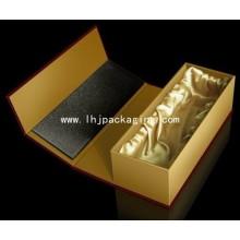 Luxus Geschenk Verpackung Papier Weinbox mit Seide Insert