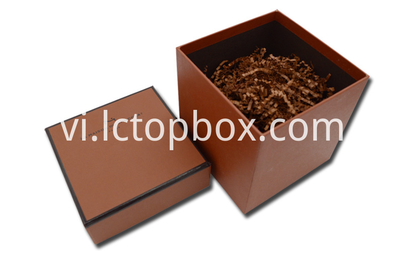 Brown gift paper box