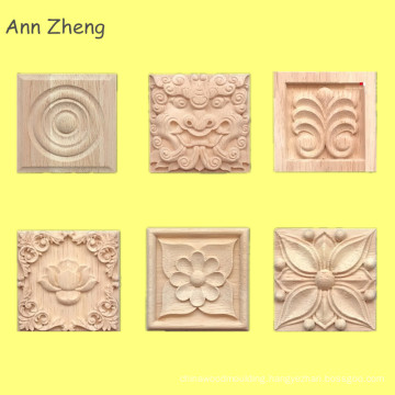 cheap cnc wood carving crafts appliques embossing wood applique