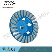 Turbo Diamond Grinding Cup Wheel pour Granite