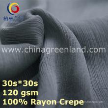 Fábrica de tecidos de crepe de rayon para roupa de vestuário blusa (GLLML436)