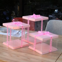 Plastic cake box transparent