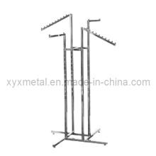 Quatro Slant Arms Way Chrome Metal Pano Vestuário Vestuário Grament Rack