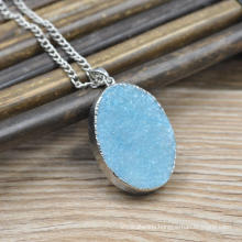 Handmade natural stone drusy druzy agate pendants wholesale