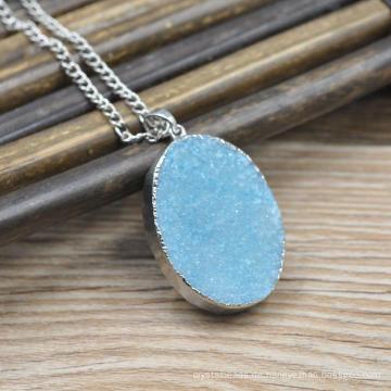 Handgemachte natürliche Stein konkaver Druzy Achat Anhänger Großhandel