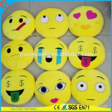 Moda de alta qualidade Moda popular Vários desenhos Plush Emoji Pillow