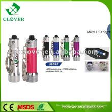 Aluminium Taschenlampe und Taschenlampe mit Schlüsselanhänger 6 LED Aluminium Taschenlampe