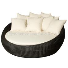 Jardim de pátio ao ar livre mobiliário conjunto de sofá de vime do Rattan
