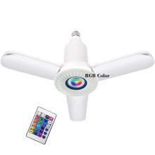 36w E27Energy Saving 2020 Upgraded LED Light Bulb Speaker Music Light Cool White & RGB Changing Lamp Stereo Audio