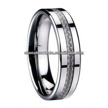 Runda Jewelry Tungsten Ring Carbon Fiber Ring Fabricant et fournisseur et exportateur