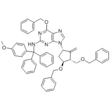 6-(Benzyloxy)-9-((1S,3R,3S)-4-(benzyloxy)-3-(benzyloxymethyl)-2-methylenecyclopentyl)-N-((4-methoxyphenyl)diphenylmethyl)-9H-purin-2-amine CAS 142217-80-9
