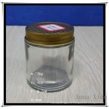 4oz Glass Jam Jar with Metal Tops