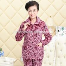 Высокое качество дешевые флис теплой Пижамная костюм женский оптом