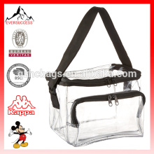 Clear PVC Lunch Bag with Front Pocket Lunch Storage Box