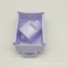 envasado al vacío bandeja de blíster de plástico blanco