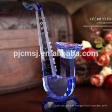 Outil de musique de modèle de saxophone en verre cristal sensible pour les décorations pour la maison et les cadeaux CO-M008