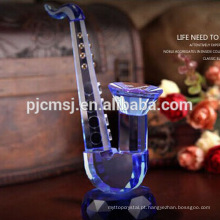 Instrumento musical do modelo delicado do saxofone do cristal para as decorações & os presentes Home CO-M008